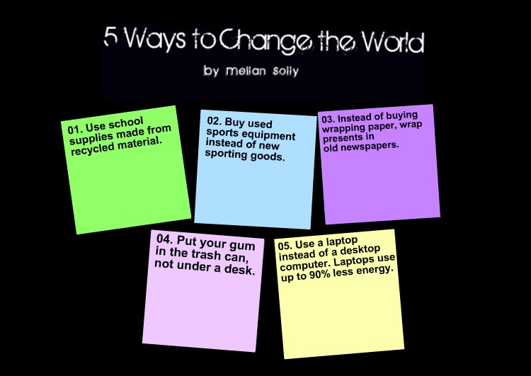 Five+Ways+To+Change+The+World
