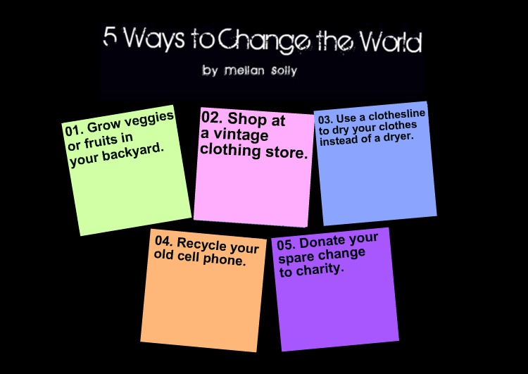 5+Ways+to+Change+the+World