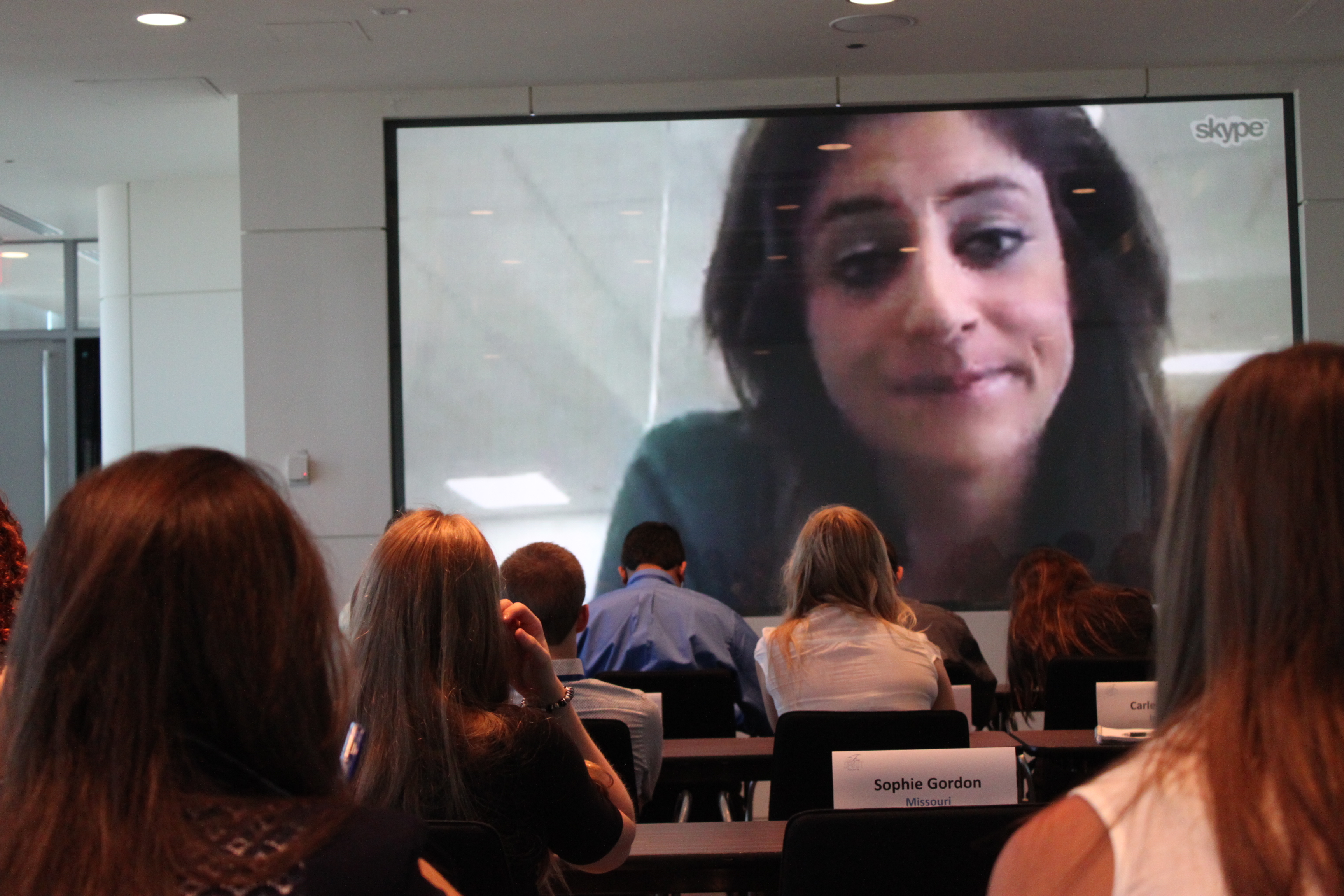 Sara Ganim, a CNN correspondent and Pulitzer Prize winner, shared tips on investigative journalism with the Free Spirits via a Skype conference call.