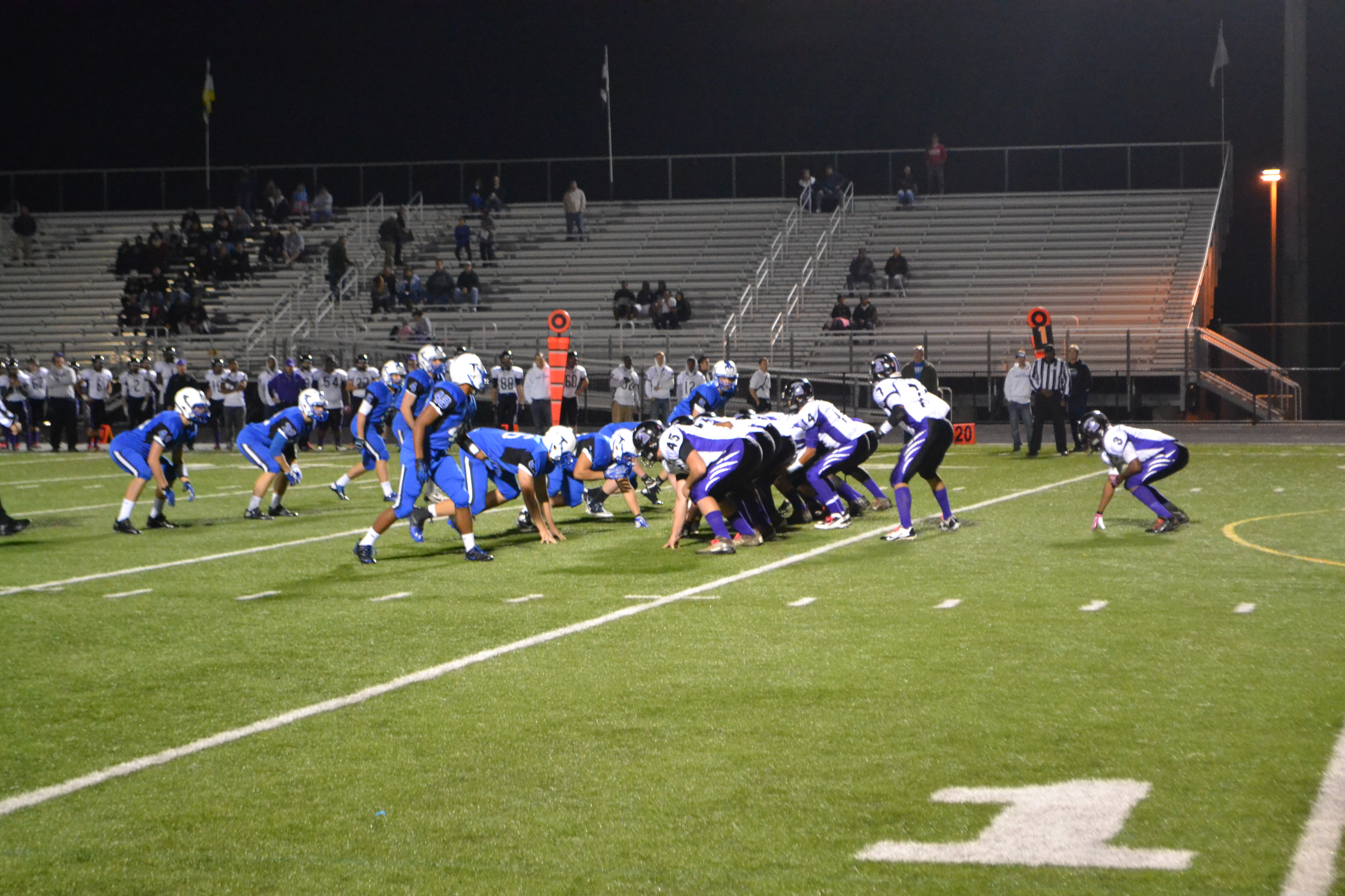 The Huskies defeated Potomac Falls 46-28, bringing their record to 7-1.