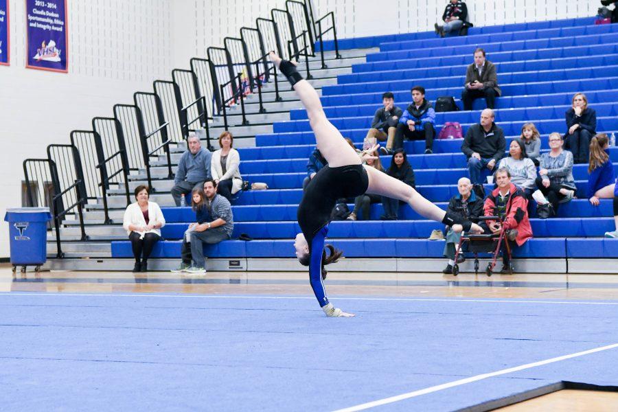 Gymnastics+meet+at+Tuscarora+High+School+including+home+team+and+Potomac+Falls