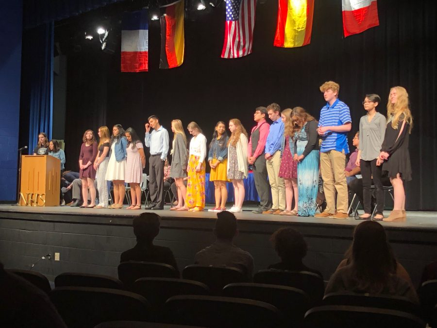 Foreign Language Students Inducted into Honor Societies