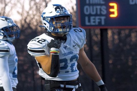Bryce Duke rushed for more than 200 yards and scored two touchdowns in Tuscarora High School