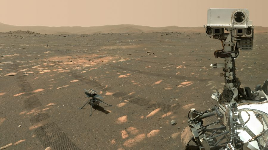 NASA's Perseverance Robotic Arm and Video/Audio From the Ingenuity Helicopter on Mars